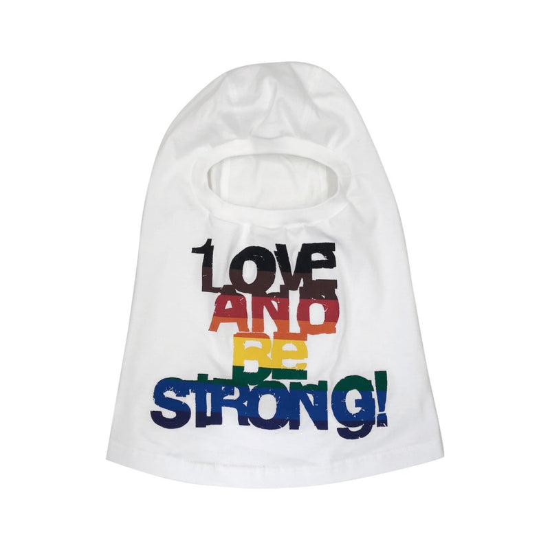 LOVE AND BE STORONG! balaclava.
