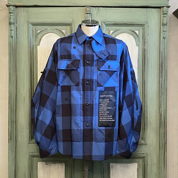 balloon sleeve work shirt jacket.