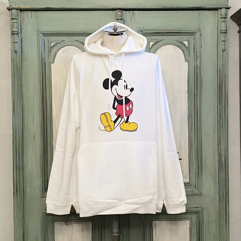 oversized Mickey Mouse crew neck pullover hoodie.