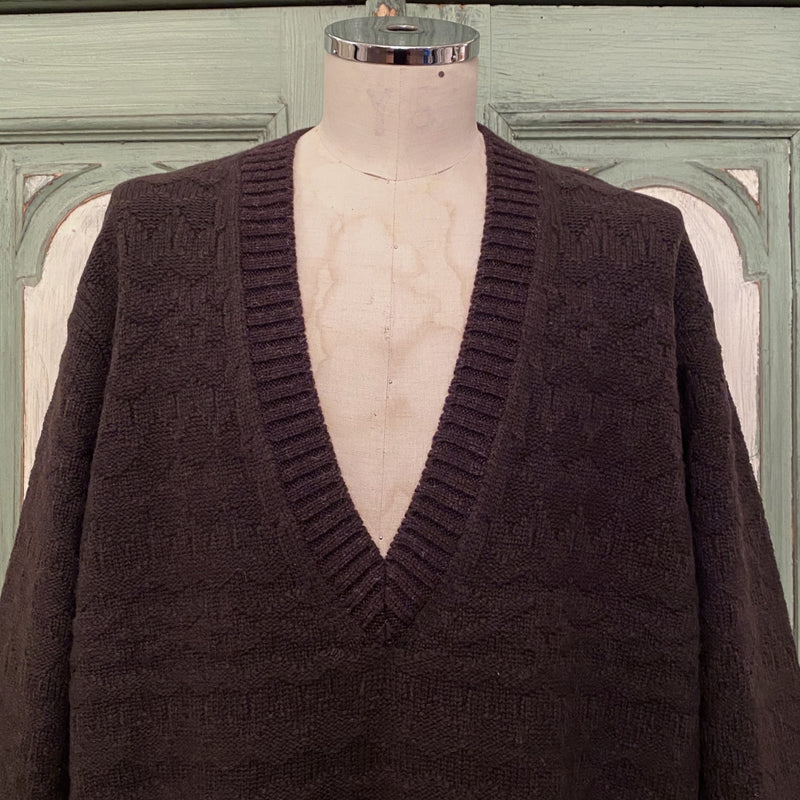v neck fair isle medical sweater.