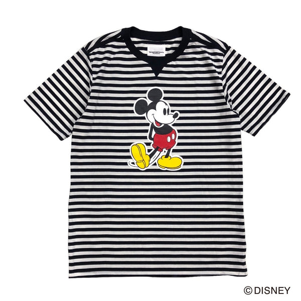 Mickey Mouse / crew neck s/s striped tee.