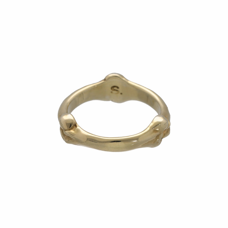 bone shaped band ring.