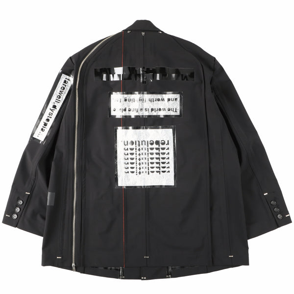 side back zip single breasted jacket?