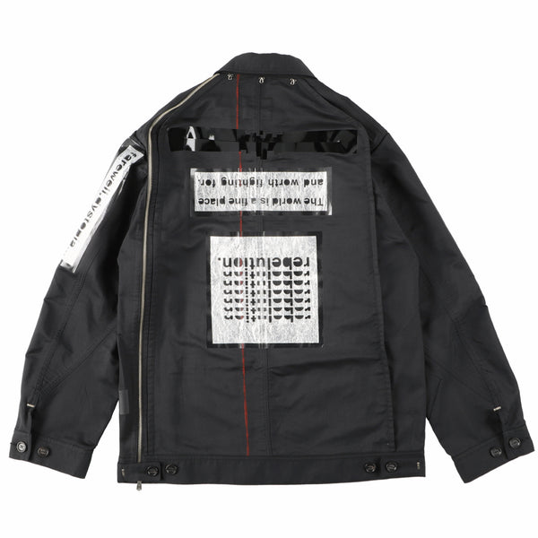 side back zip work jacket?