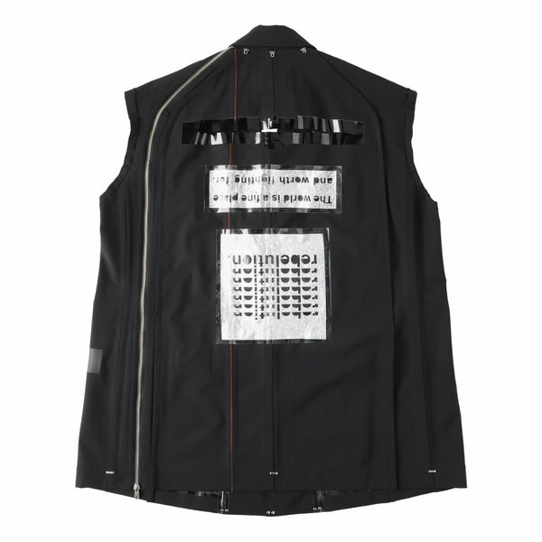 sleeveless side back zip single breasted jacket?