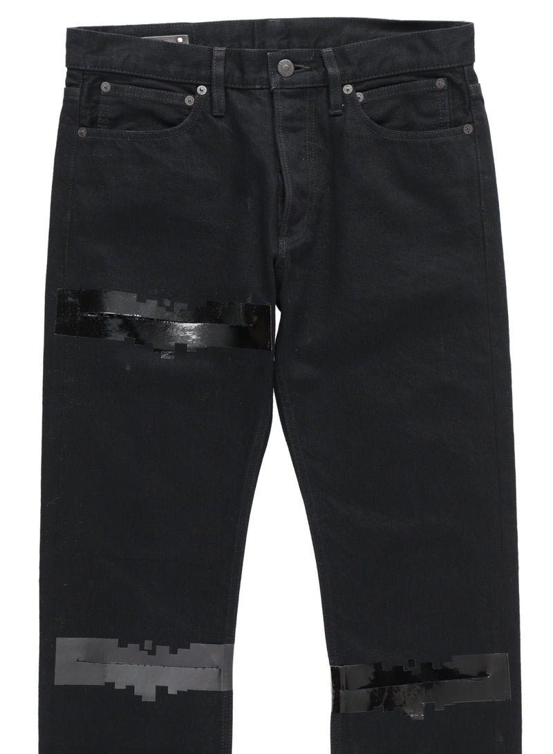 slim straight 6 pocket noise jean?(Version that does not cut the noise tape on the rear)