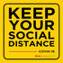 Social Distancing Decal (Yellow)