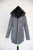 REVERSIBLE TRAVEL COAT WITH PLEATED HOOD BY UBU