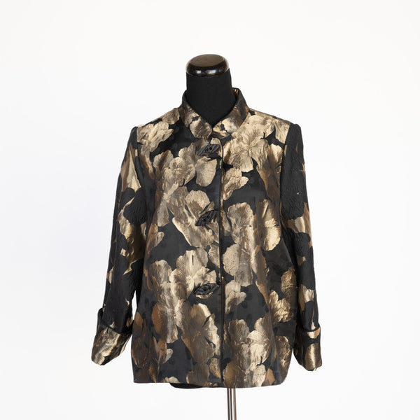 JACKET GOLD FLOWERS ON BLACK BY IC COLLECTIONS