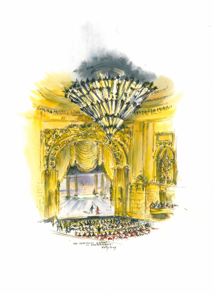 "San Francisco Opera Note Cards ""Paintings by Betty Guy"" (Currently out of stock)"