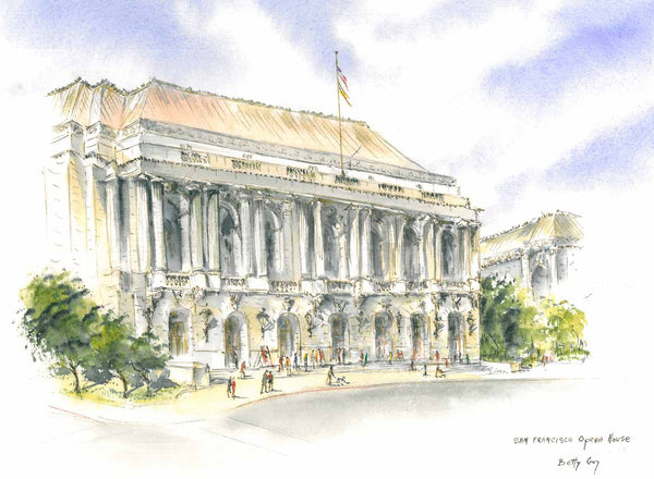 "San Francisco Opera Note Cards ""Paintings by Betty Guy"""