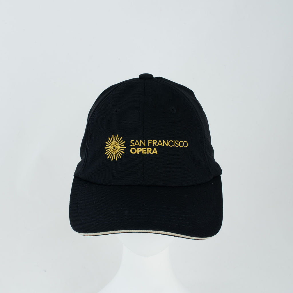 CAP BLACK with San Francisco Opera Logo