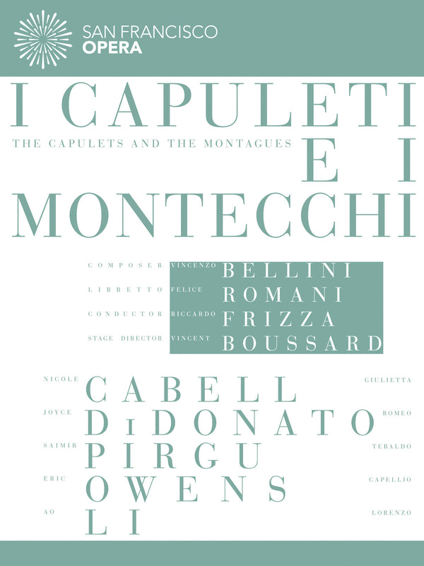I Capuleti e I Montecchi  (San Francisco Opera Production) (DVD/Blu-ray)