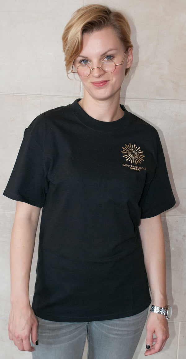 Short Sleeve Tee Black with San Francisco Opera Logo
