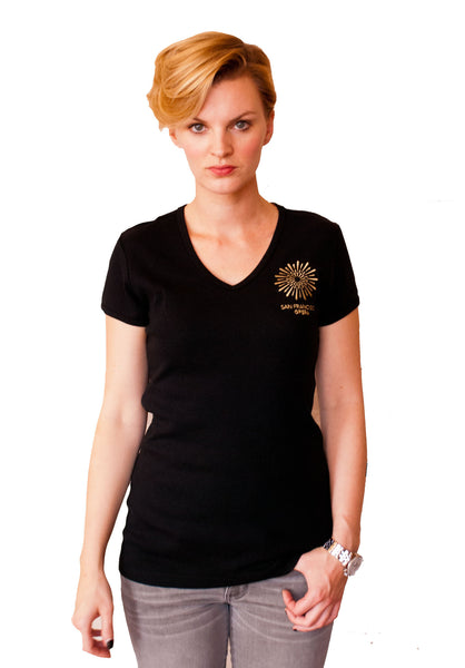 Ladies Tee San Francisco Opera Black