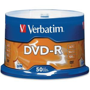 VERBATIM DVD-R 50Pk Spindle-4.7GB 16x