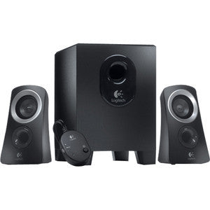LOGITECH Z313 SPEAKERS 2.1 2.1 Stereo Speaker System: Compact Subwoofer. 25w RMS: control pod & room-filling sound .2 Years Limited Warranty