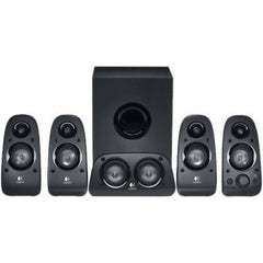 LOGITECH Z506 SURROUND SPEAKERS 5.1 Surround sound with 3D Stereo 75 watts RMS power ported down-firing subwoofer multiple inputs. 2 Years Limited Warranty
