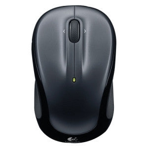 LOGITECH M325 WIRELESS MOUSE - DARK SILVER (U) Designed-for-Web scrolling feel-good contoured shaped with textured rubber grips unifying wireless plug-and-play connection.