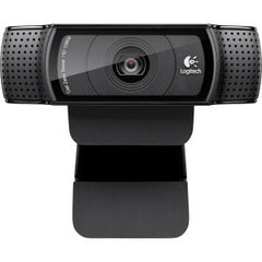 LOGITECH C920 HD PRO WEBCAM HD 720p video calling Full HD 1080p recording Carl Zeiss optics autofocus stereo mics H.264 encoding.