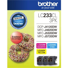 BROTHER LC233CL 3PK Colour 3 pack Ink cartridge