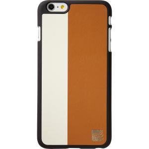 Maroo iPhone 6+ Snap On Case - Slim Profile - Light Brown and White Leather Combo