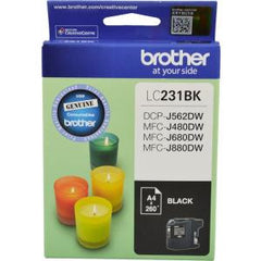 BROTHER LC231BK INK CARTRIDGE BLACK 260 PAGE YIELD AT 5%
