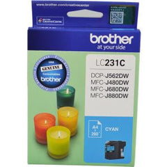 BROTHER LC231C INK CARTRIDGE CYAN 260 PAGE YIELD AT 5%