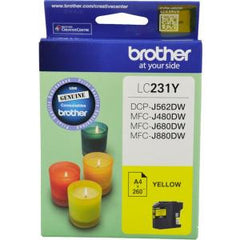BROTHER LC231Y INK CARTRIDGE YELLOW 260 PAGE YIELD AT 5%