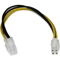 STARTECH 8in ATX12V 4 Pin P4 CPU Power Extension Cable - M/F