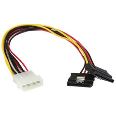 STARTECH 12 LP4 to 2x latching SATA Y Cable