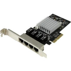 STARTECH 4-Port Gigabit Ethernet Network Card - PCI Express Intel I350 NIC - Quad Port PCIe Network Adapter Card w/ Intel Chip - Four Port Server Adapterw/ Intel Virtualization Technology