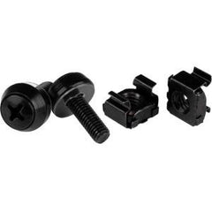 STARTECH M5 Screws & Cage Nuts - 100 Pack Black