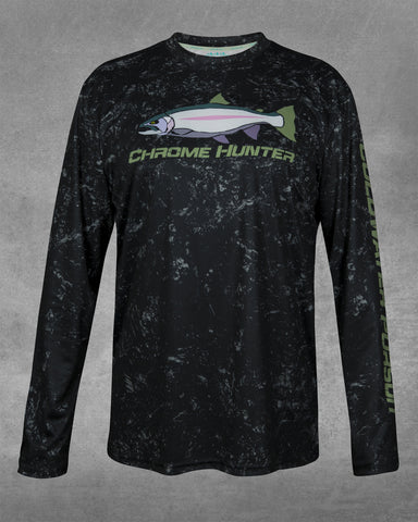 Men's Coal Stone Chrome Hunter UPF 50+ Long Sleeve performance shirt
