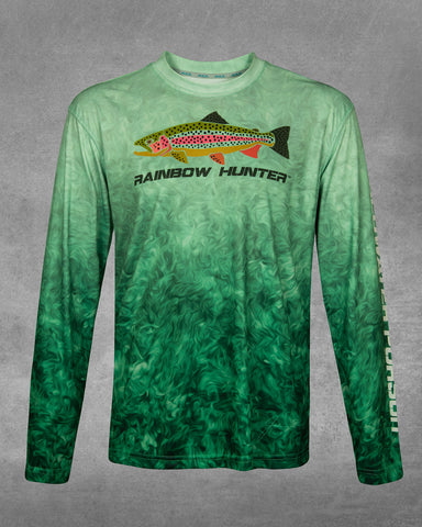 Men's Moss Rock Rainbow Hunter UPF 50+ Long Sleeve Performance Shirt