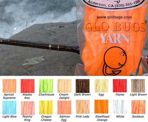 Glo Bugs Yarn 15/' COTTON CANDY UV Approx 8mm in Diameter The Bug Shop