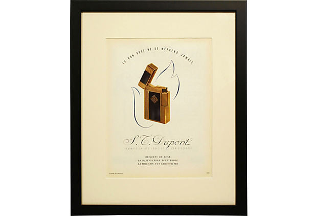 1940s French Lighter Ad Print ART00003