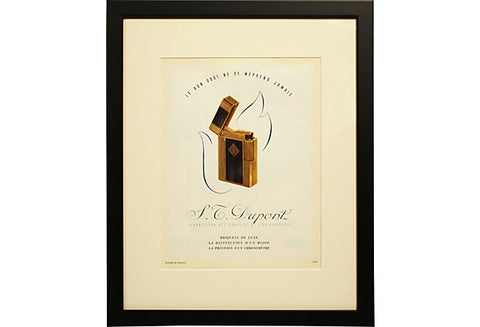 1940s French Lighter Ad Print