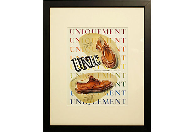 1940s French Shoe Advertisement ART00004