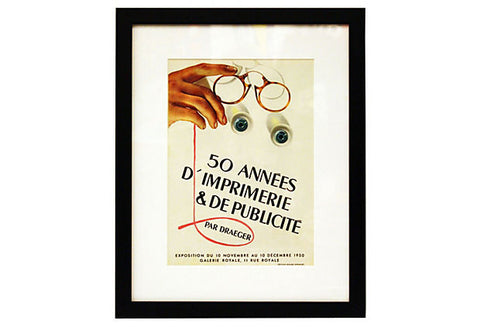 Original 1940's French Ad ART00005