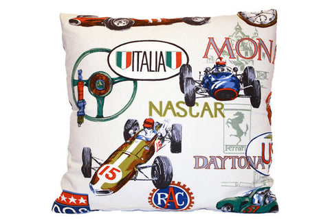 International Race Cars Montage Pillow VPL00472