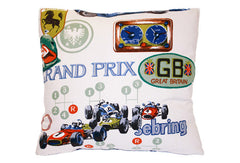 International Race Cars Montage Pillow VPL00473
