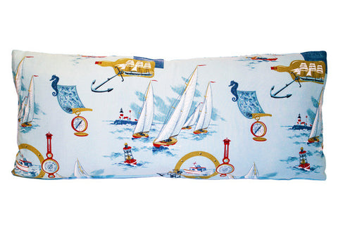 Nautical Sailing Theme Bolster Pillow VPL00470