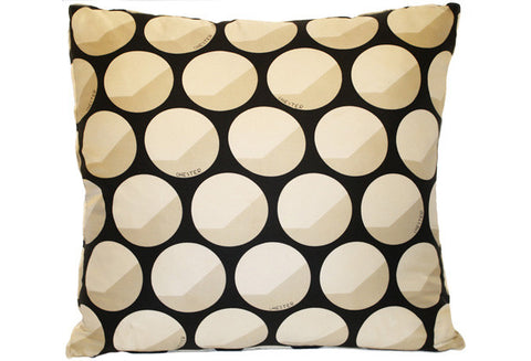 1960s Chester Weinberg Geometric Circles Graphic Silk Scarf Pillow