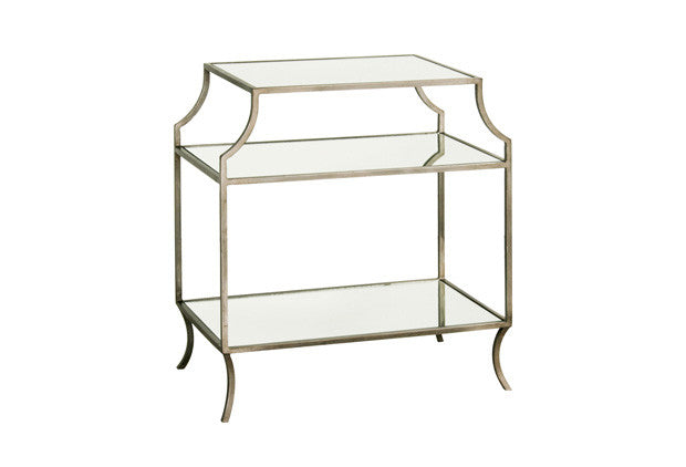 Milla Side Table w/ Mirror Shelves SDT00018