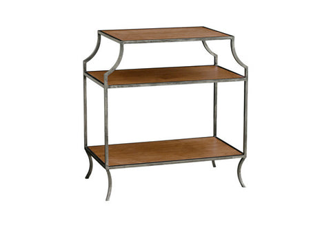 Milla Side Table w/ Wood Shelves SDT00017