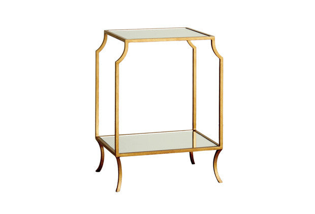 Milla Small Side Table w/ Mirror Shelves SDT00019