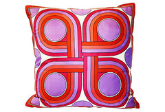 Italian Silk Scarf Pillow VPL00276