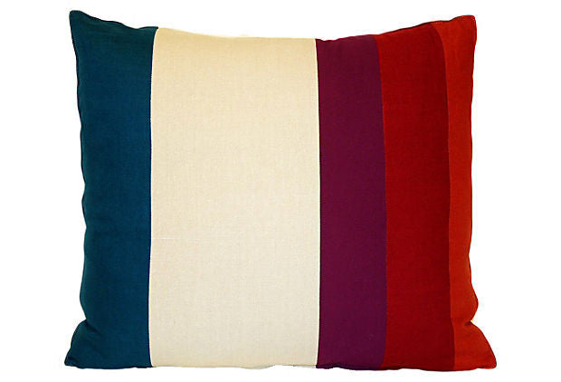 Color Field Pieced Stripe Pillow