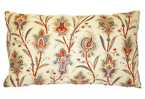 Antique French Floral Pillow
